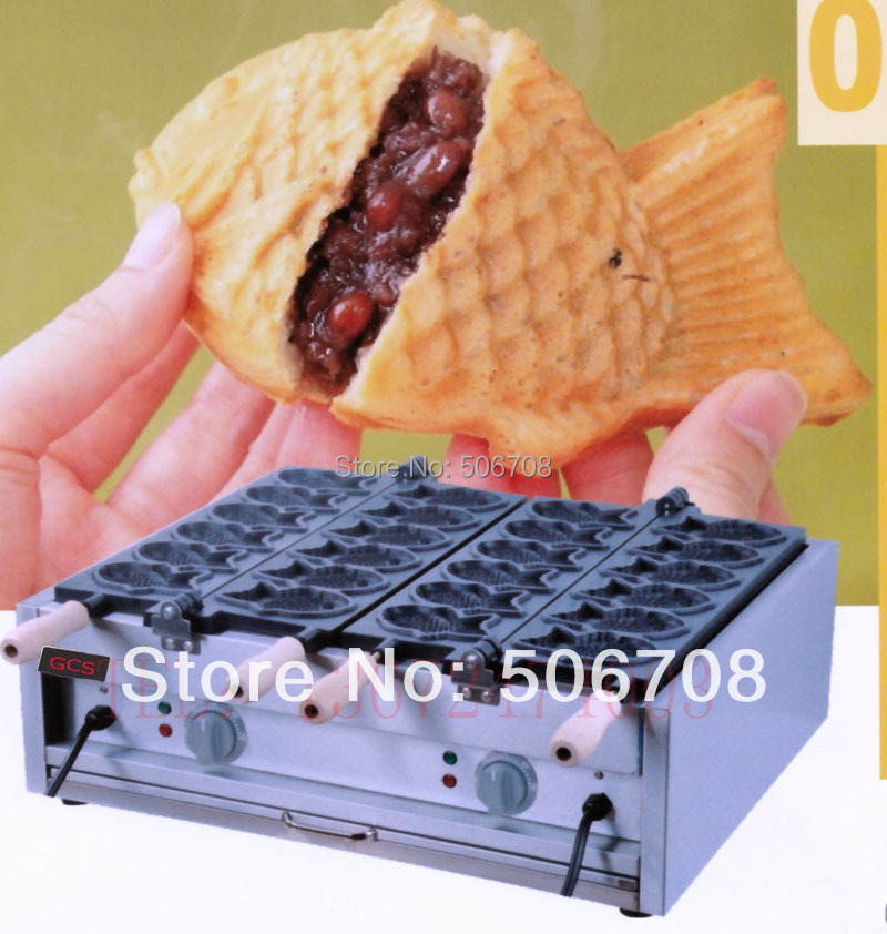 free shipping ~hot sale electric 12 pcs Fish Taiyaki Waffle machine/ non-stick pan Good quality hot sale good quality inductive
