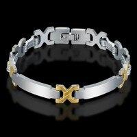 Men S Braslet Pulseira Masculina Wholsale Male Bracelet 2017 Silver Color Stainless Steel Chain Link Bracelet