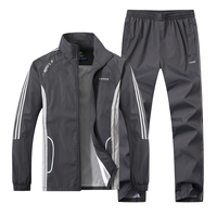 JEASS Men Running Suits Plus Size Mens Sports Suits Quick Dry High Quality Men Tracksuit Sport