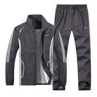 JEASS Men Running Suits Plus Size Mens Sports Suits Quick Dry High Quality Men Tracksuit Sport
