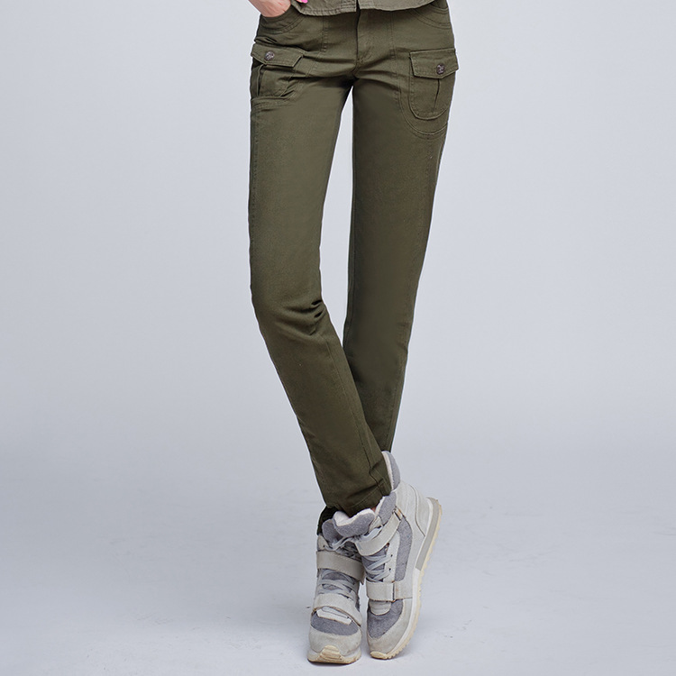 High quality!2017 new women's fashion slim sexy all-match camouflage cargo pants