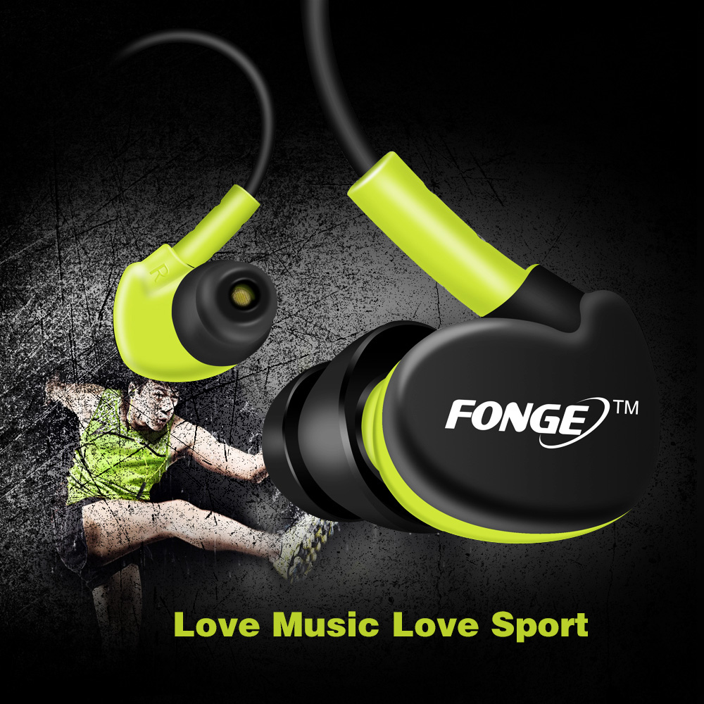 Hot Sale 4 Colors Sport In Ear Earphone Stereo Running Headsets with Super Bass Waterproof IPX5 Earbuds HIFI Handsfree With Mic songful s1 stereo deep bass earphone sport running headset sweat proof ear hook earbuds hifi handsfree with mic for iphone mp3 4