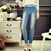 Original jeans femme automne 2016 nouveau slim trou serré jeans en gros
