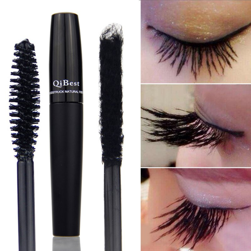 2 Pcs Lange Anhaltende <font><b>3D</b></font> Faser Lash Wimpern Curling <font><b>Mascara</b></font> Wasserdicht Make-Up image