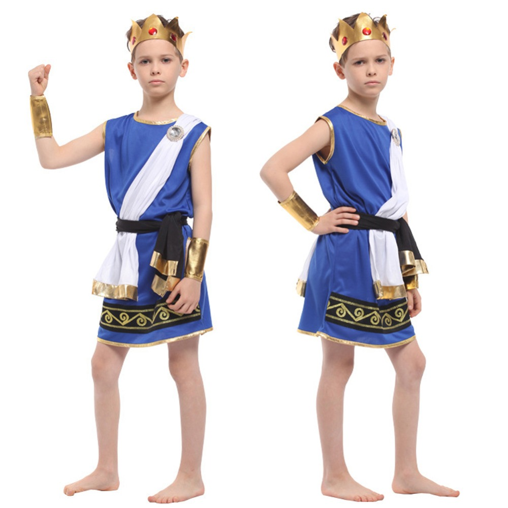 Kids Boys Zeus Costume The God of Greek Mythology Suitable for 5-9 Years Novelty Halloween OutfitsKids Boys Zeus Costume The God of Greek Mythology Suitable for 5-9 Years Novelty Halloween Outfits