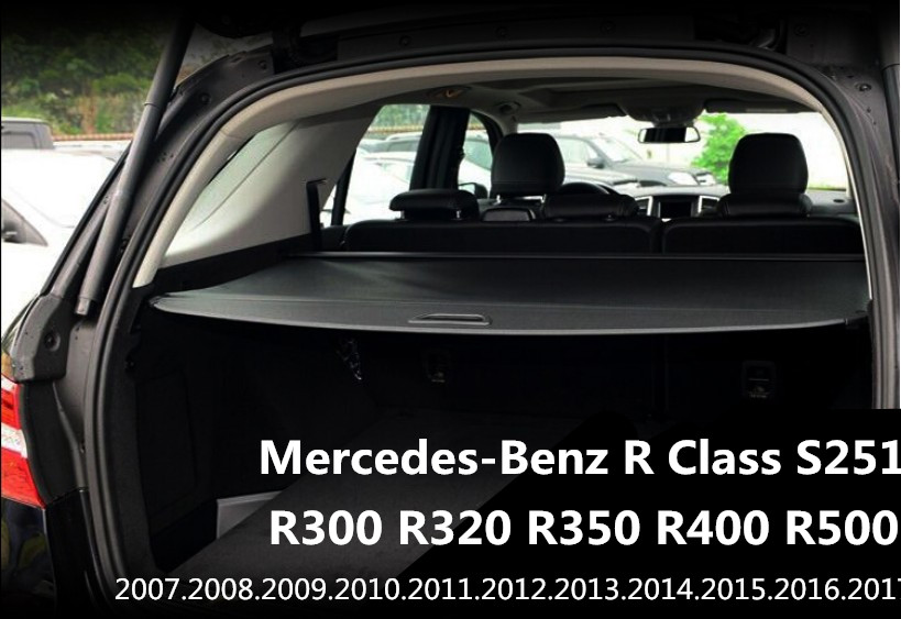 Car Rear Trunk Security Shield Cargo Cover For Mercedes-Benz R Class S251 R300 R320 R350 R400 R500 2007-2018 High Quality