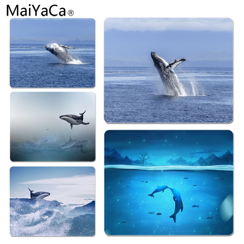 MaiYaCa New Arrivals Humpback Whales Computer Gaming Mousemats Size for 180x220x2mm and 250x290x2mm Small Mousepad