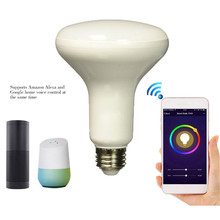 voice kontrol light wifi bulb google E27 play bulb globo de luz de festa 7W intelligent bulb for smart home rgbw alexa