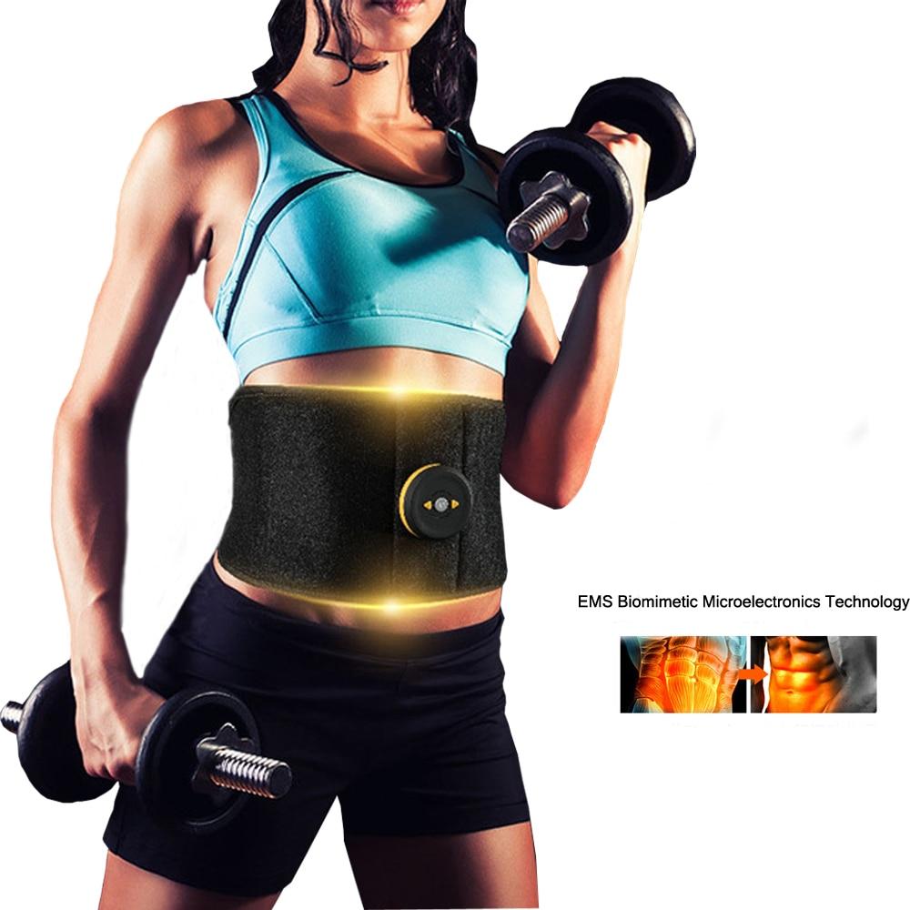 EMS stimulateur musculaire Abdominal sans fil Fitness masseur taille soutien EMS Stimulation combustion des graisses minceur ceinture du corps maison Gym