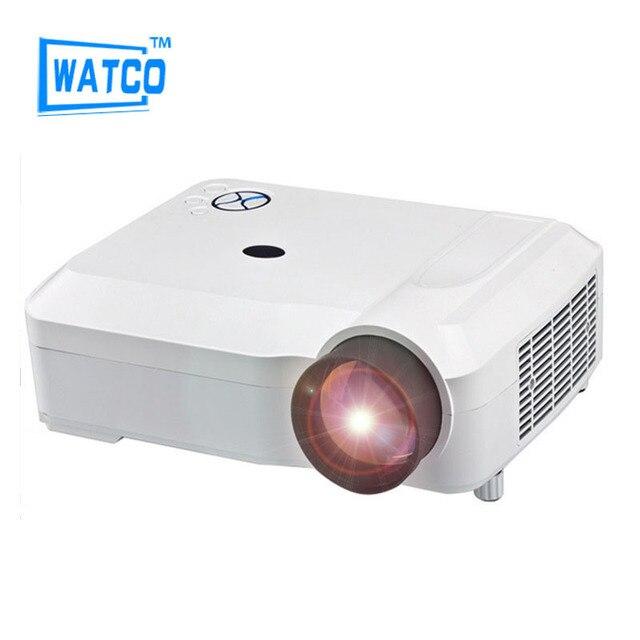 Самые популярные видео кино жк-hdmi 4600 lumens 1280 x 800 1080 P из светодиодов тв 3D мини-hd проектор лучемет Proyector