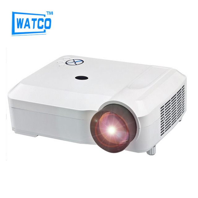 Most Popular Video Cinema HDMI 4600lumens 1280x800 1080P LED TV 3D Mini HD Projector Beamer Proyector