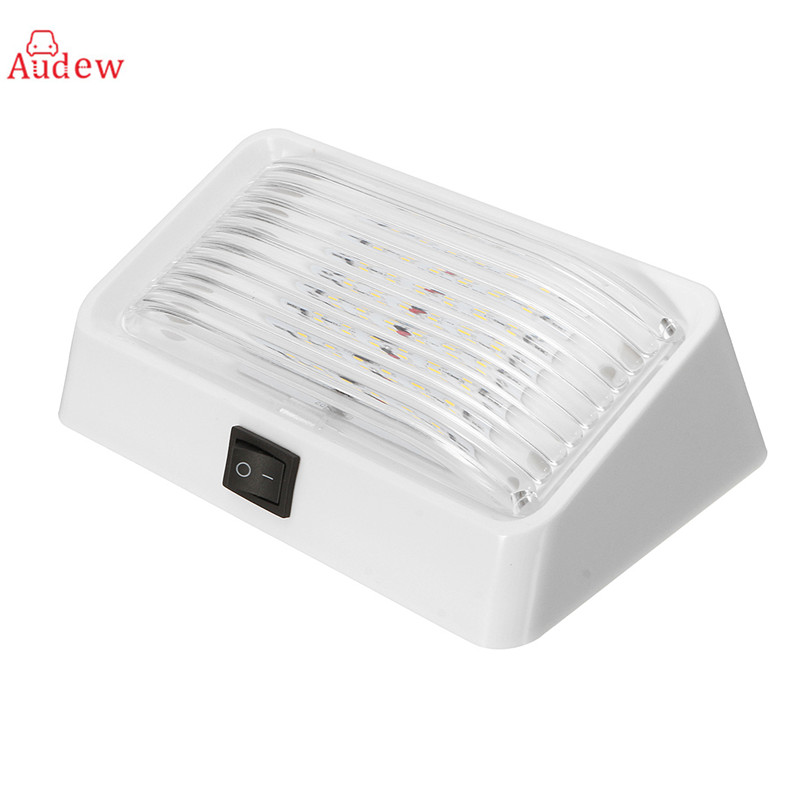 24 LED Roof Ceiling Interior Reading Dome Light 12V Porch Light Rectangle Clear Amber Lens For Camper Car  Boat Traile autoleader 24 led roof ceiling interior reading dome light for camper car rv boat trailer 12v porch light rectangle clear amber