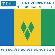Free shipping 60*90cm 90*150cm Saint Vincent And The Grenadines Flag 30*45cm 15*21cm 3ft*5ft For Olympic Games