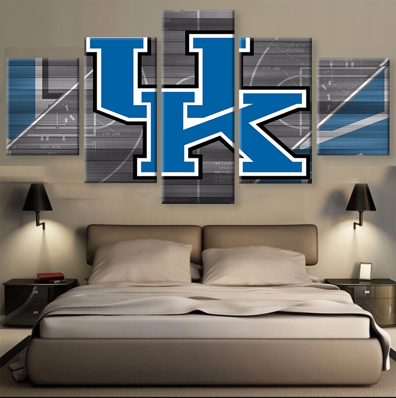 5 Pezzi/set KENTUCKY WILDCATS Su Tela Sport Pittura Unico Wall Art ...