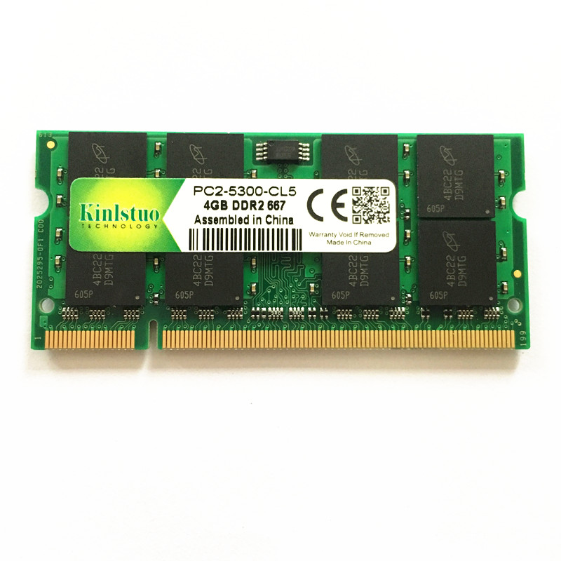 Marca memoria ram ddr2 4 gb 800 Mhz pc2-so-dimm laptop, ram ddr2 4 gb 667 pc2-sodimm notebook, 4 gb di memoria ddr2