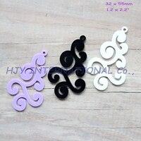 (3colors,30pcs/lot) 55mm Acrylic Earrings Lace Oorbellen Ornametns Black, White, Purple Laser Cut 2.2