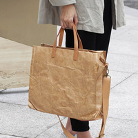 Large Casual Toes Top Handle Bag Women Luxury Vintage Kraft Paper Messenger Bags All Matched Women Shoulder Bags