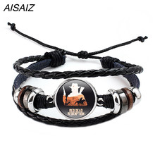 HOT Game Red Dead Redemption 2 Bracelet Adjustable ID Multi-layer leather rope Weave Bracelets Gift for Man Boy Fashion Bracelet(China)