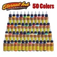 Tattoo Eternal Tattoo Ink Set 50 Colors Set 1oz 30ml/Bottle