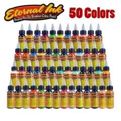 цены на Tattoo Eternal Tattoo Ink Set 50 Colors Set 1oz 30ml/Bottle в интернет-магазинах