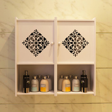 Bathroom shelf wall hanging bathroom receipt cabinet toilet hole free closet wall suction type sundry shelf