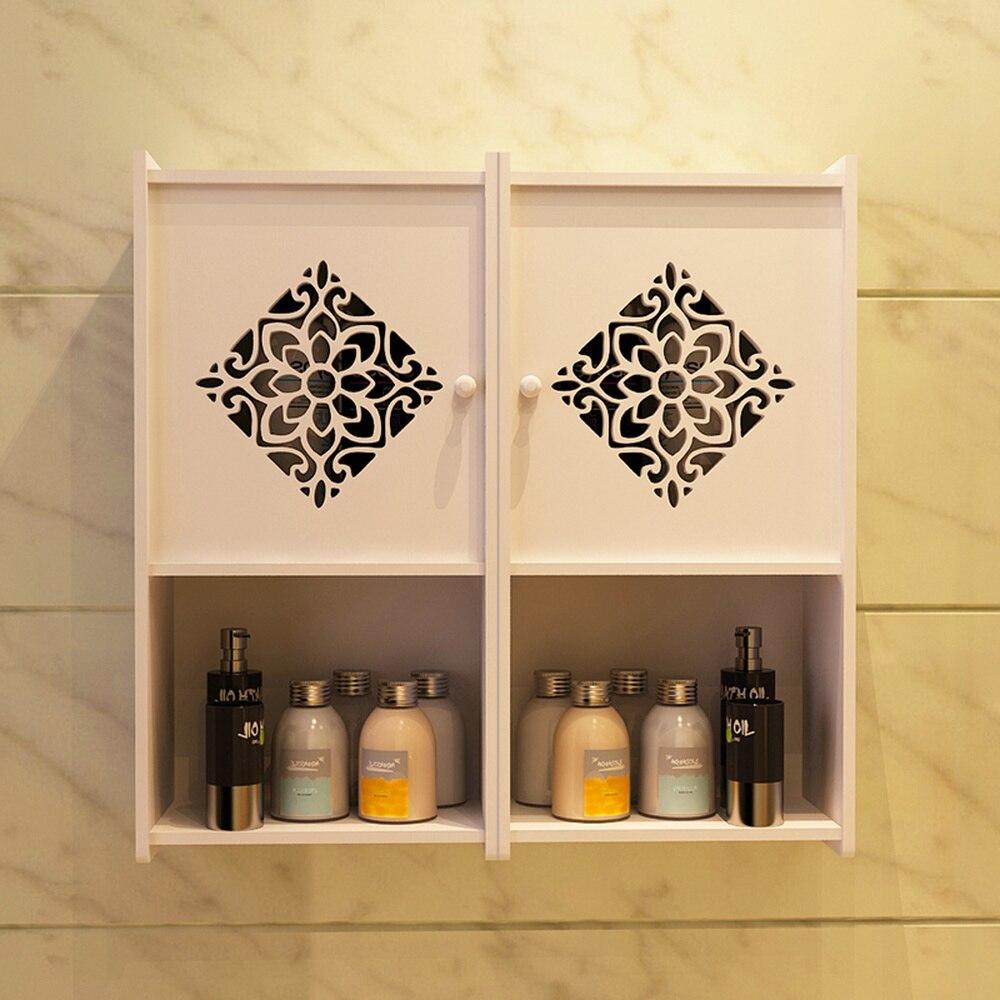 Bathroom shelf wall hanging bathroom receipt cabinet toilet hole free font b closet b font wall
