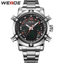 Новый бренд вайде мужчины спортивные военные часы мужчины кварцевые аналоговые полностью стали наручные часы мужчин спортивные Relogios бренд класса люкс наручные часы мужские часы мужские часы мужские наручные часы