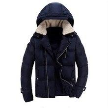 Free Shipping New Warm Winter Jacket Men Thick Parkas Pockets Fleece Men Windbreaker Zipper Windproof Bomber Jacket Male Coat