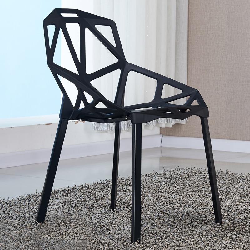 Simple élégant salon chaise Jardin simple tabouret blanc vert rouge ...