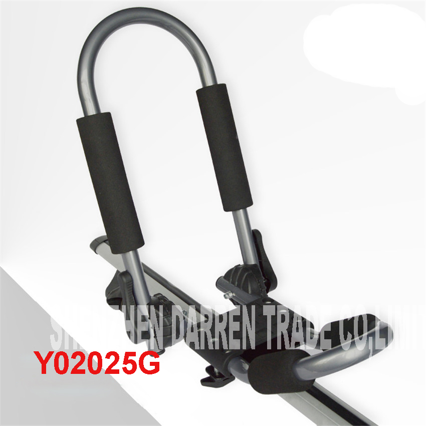 1 SET Y02025G Folding J-Style stacker kayak Kayak Canoe carrier holder carrier roof aluminum alloy Canoe Kayak Boat shelf