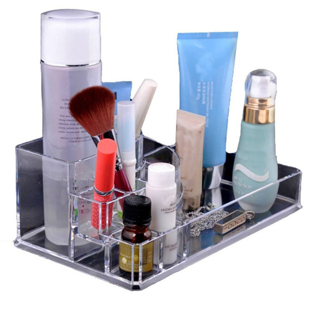 New Clear Makeup Jewelry Cosmetic Storage Display Box Acrylic Case