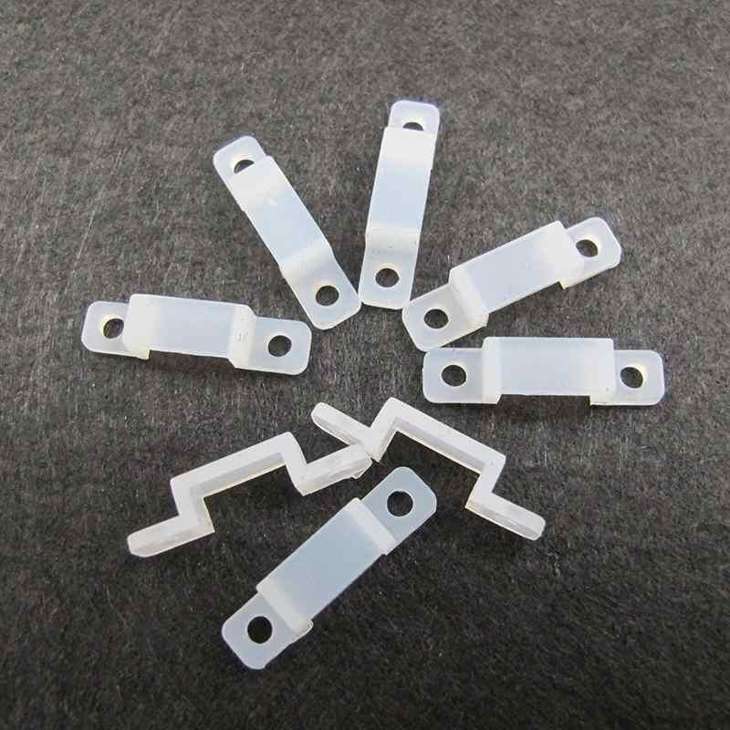 10 Buah/Banyak Silikon Dudukan Klip untuk Memperbaiki LED S PS Ukuran 12 Mm untuk Memperbaiki 5050 5630 RGB LED Flexible S P Lampu 10Pcs