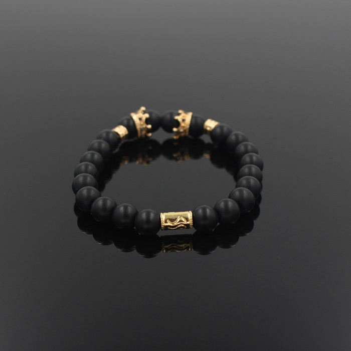 gold-imperial-crown-with-natural-stone-black-bracelet-3