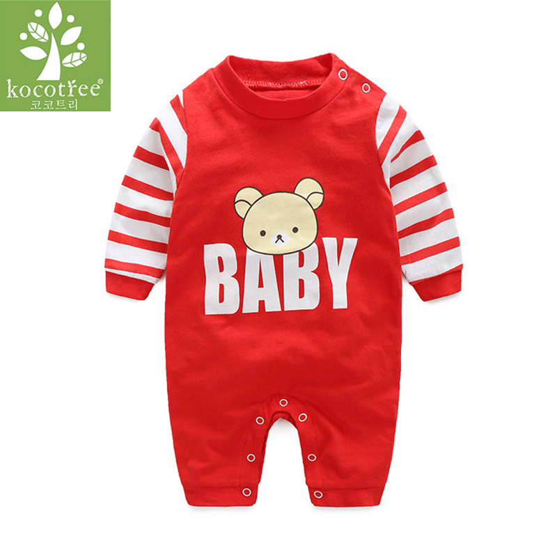 Kocotree Brand Baby Newborn Clothes Baby Romper Autumn Winter Long Sleeves 100% Cotton Boys girls Clothing Overalls Bebe clothes baby climb clothing newborn boys girls warm romper spring autumn winter baby cotton knit jumpsuits 0 18m long sleeves rompers