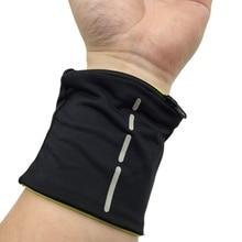 Фитнес Велоспорт спортивный браслет волейбол бадминтон Sweatband молния Карманный обмотка для поддержки запястья ремни браслет