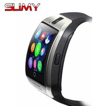 Slimy Smart Watch Q18 Smartwatch With Camera Facebook Whatsapp Sync Call SMS MP3 Support 2G SIM TF Card Wristwatch PK DZ09 A1 Y1(China)