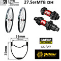 27 5 er горный велосипед колеса 35 мм * 35 мм 650B углеродный обод mtb для AM XC велосипедная колесо с оригинальной DT Swiss 240 ступицы