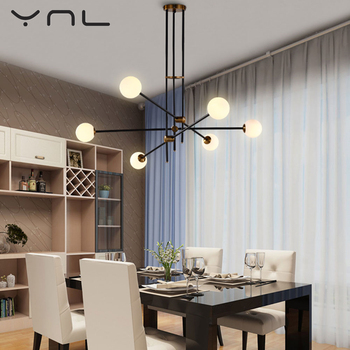 Online Shop Nordic Modern Gold LED Pendant Lights bedroom dinning ...