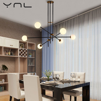 Modern Nordic Pendant Lights Hanglampen Voor Eetkamer Douille G9 LED Lamp Edison Light Bulb