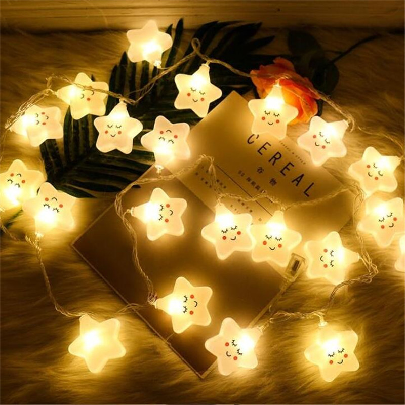 1.5M 10LED Star Lights String Copper Wire String Lights Waterproof Christmas LED Holiday Home Party New Year Decoration
