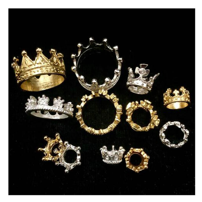 DIY Jewellery Crown Accessories Handmade Resin Craft Decoration Mini Cute King Royal Crowns Pendant Jewelry Findings Charms