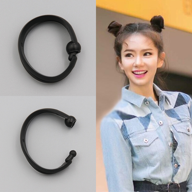 2PCS New Magic Hair Quick Maker Hair Band Bud Round DIY Updo Donut Hair Styling Tools Headband For Women Hair Accessories