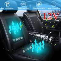 8/4 Built in Fan 3D 12V Cooling Car Seat Cushion Cover Air Ventilated Fan Conditioned Cooler Pad 3 Speeds Car Seat Cushion Cover