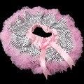 Розовый пушистый пачки девочка наряды юбка костюм танец для детей девушка юбка