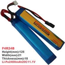 1pcs 100% Orginal FireFox 11.1V 2400mAh 20C 2 Cell Li Po AEG Battery F4R24B Drop shipping