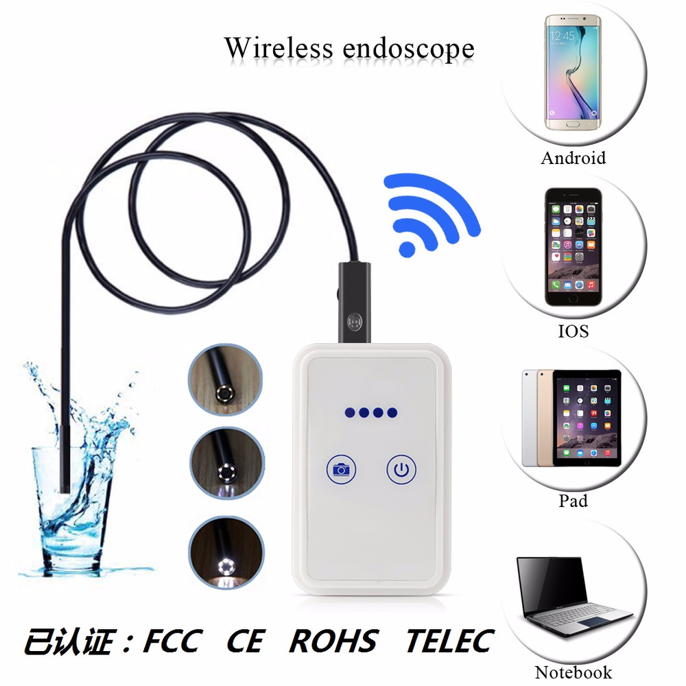 HD 1200P Wifi Endoscope Android Apple Endoscope WiFi Mobile Endoscope Camera