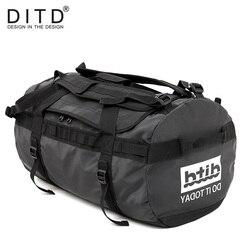 DITD 100% Waterdichte bagage Grote Capaciteit Travel Duffle Multifunctionele Tote Casual Crossbody Tassen mannen handtas Reistas