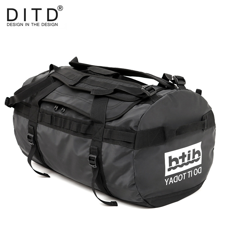 DITD 100% Waterproof Luggage Large Capacity Travel Duffle Multifunction Tote Casual Crossbody Bags Men's Handbag Travel Bag