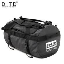 DITD 100% Водонепроницаемый багажа большой Ёмкость путешествовать Многофункциональный Tote Повседневное Crossbody сумки Для мужчин сумки Дорожная сумка