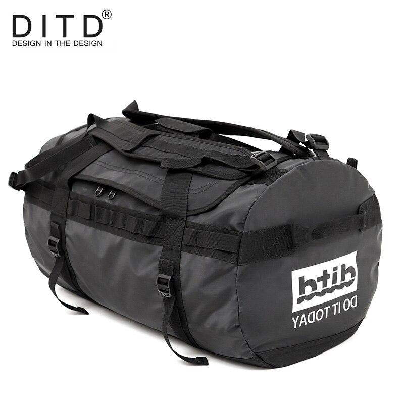 DITD 100% bagagem Grande Capacidade bolsa de Viagem À Prova D' Água Multifuncional Duffle Tote Crossbody Bolsas Casuais bolsa Saco de Viagem dos homens